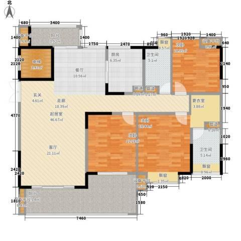 归心花园3室0厅2卫1厨145.00㎡户型图