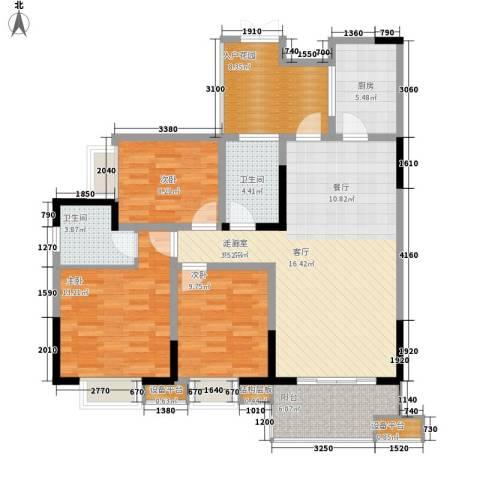 三江希望城3室0厅2卫1厨105.00㎡户型图