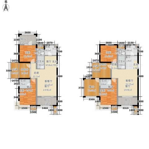富立秦皇半岛4室2厅6卫2厨198.58㎡户型图