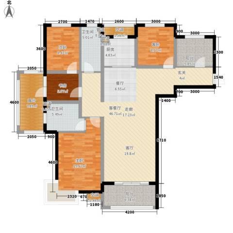 富立秦皇半岛4室1厅2卫1厨136.00㎡户型图