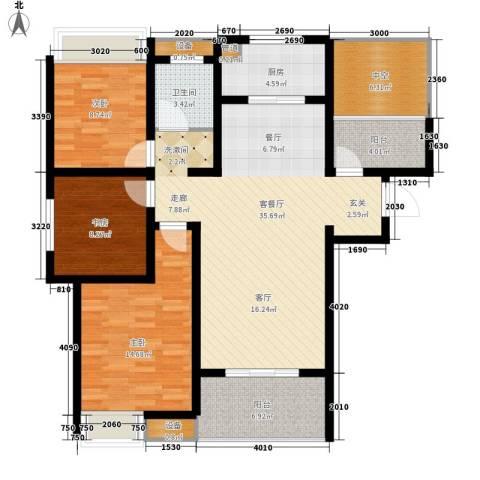 文一名门首府3室1厅1卫1厨105.00㎡户型图