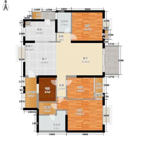 半岛城邦二期4室1厅2卫1厨169.00㎡户型图