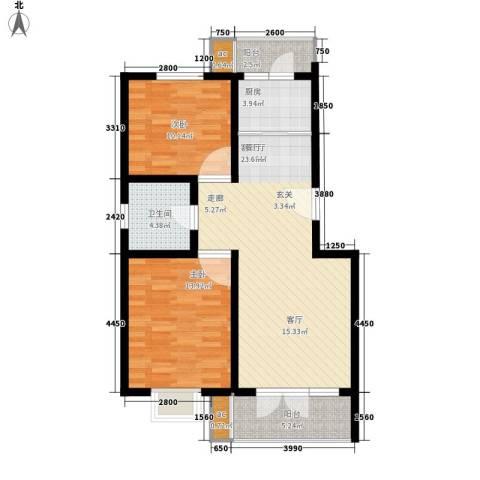 家和康平里2室1厅1卫1厨92.00㎡户型图
