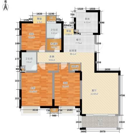 吉品名人苑3室0厅2卫1厨120.00㎡户型图