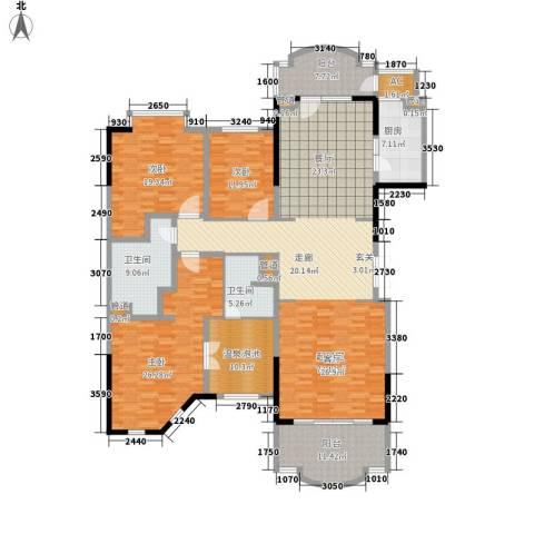 春晖园·随园3室0厅2卫1厨208.00㎡户型图