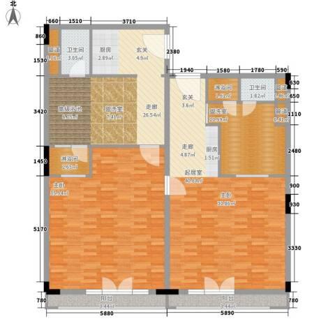 春晖园·随园1室0厅2卫0厨137.00㎡户型图