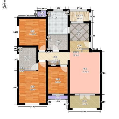 富云新都(东区)3室0厅2卫1厨141.00㎡户型图