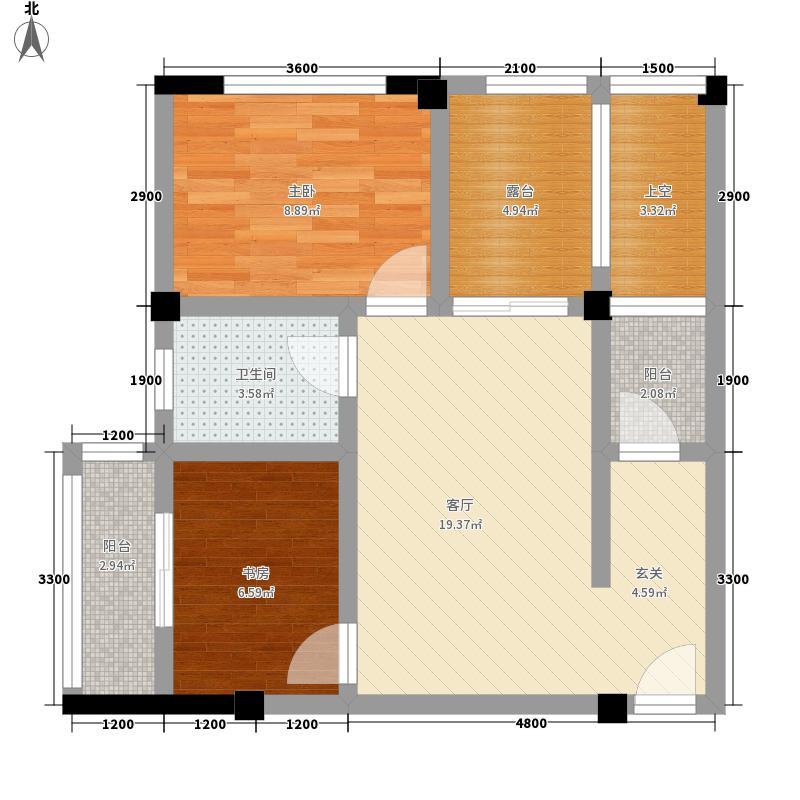 千鹭湖度假酒店C3型户型2室1厅1卫1厨