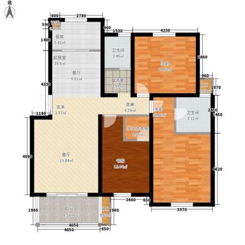 尚南华庭3室0厅2卫1厨127.00㎡户型图