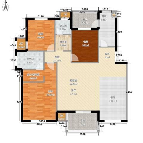 尚南华庭3室0厅2卫1厨135.00㎡户型图