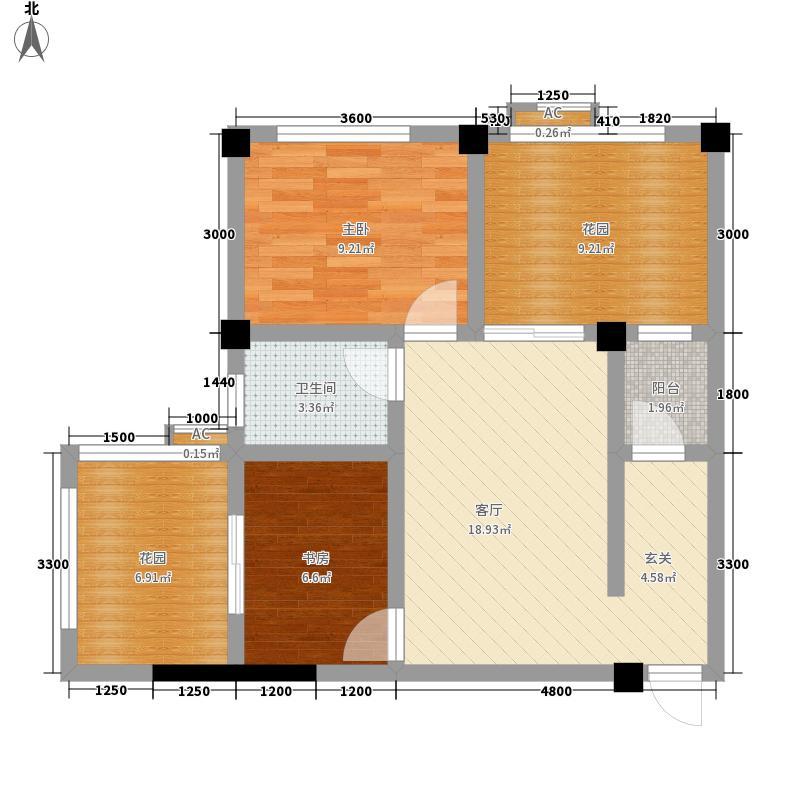 千鹭湖度假酒店C1型户型2室1厅1卫1厨