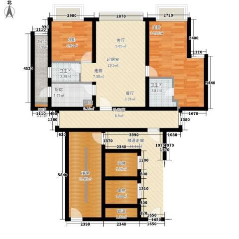 美居荷园2室0厅2卫1厨92.00㎡户型图