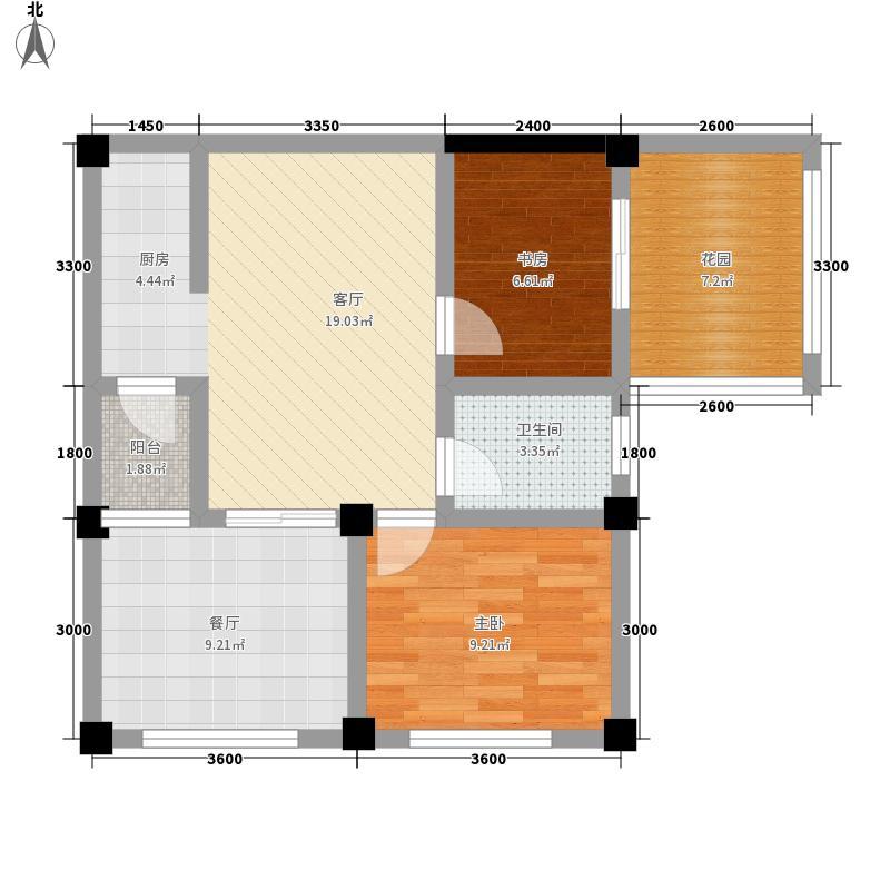 千鹭湖度假酒店C2型户型2室1厅1卫1厨