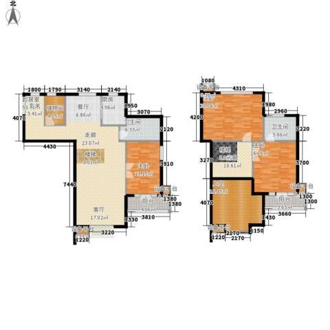 富苑华城3室0厅2卫1厨181.00㎡户型图