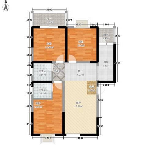 颐和郡3室1厅2卫1厨121.00㎡户型图