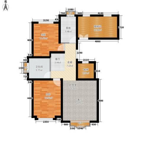 四季花城2室0厅1卫1厨119.00㎡户型图