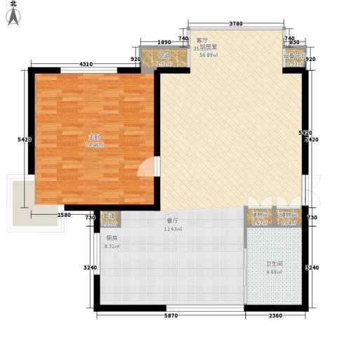 新光小区1室0厅1卫0厨100.00㎡户型图