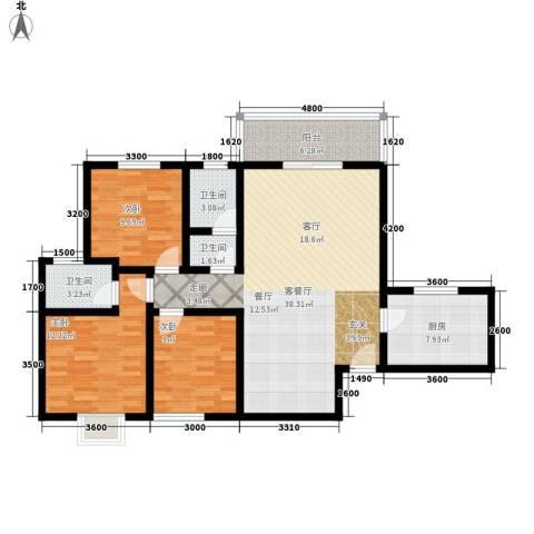 颐和郡3室1厅3卫1厨128.00㎡户型图