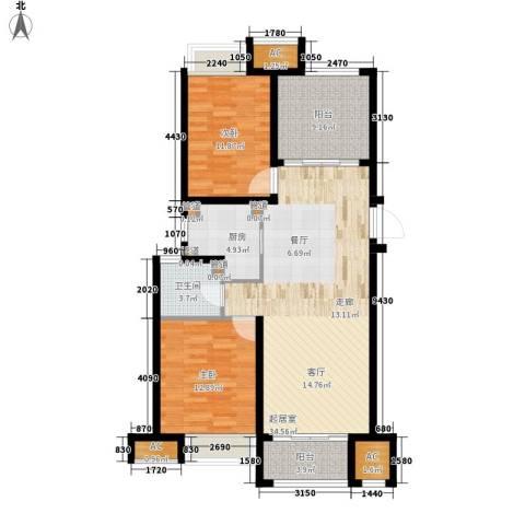 荣盛馨河郦舍2室0厅1卫1厨98.00㎡户型图