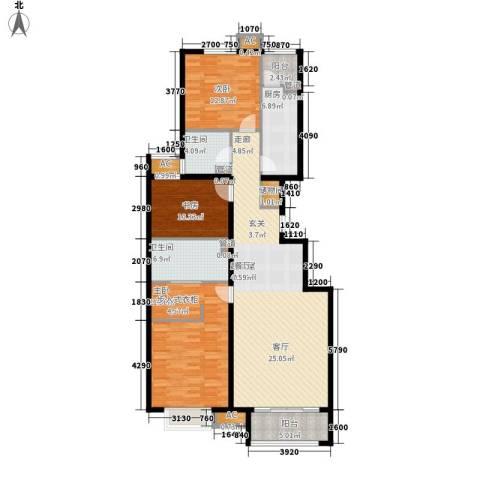 绿地新都会・国际花都3室0厅2卫1厨127.00㎡户型图