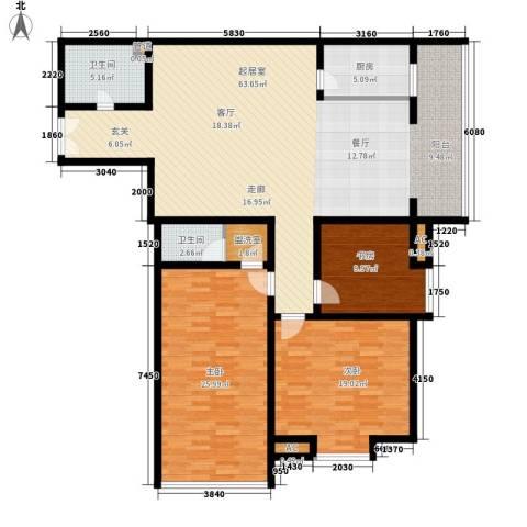 嘉禾公馆3室0厅2卫1厨150.00㎡户型图