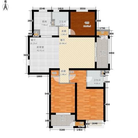 武进吾悦广场3室0厅2卫1厨136.00㎡户型图