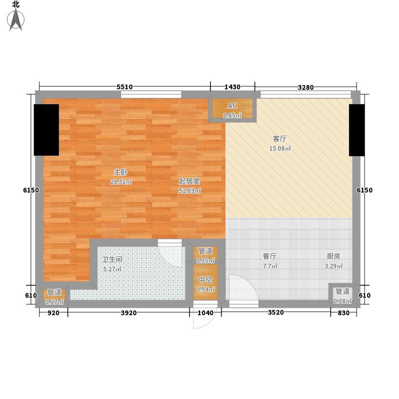 贵贤上品69.39㎡21层至35层05单面积6939m户型