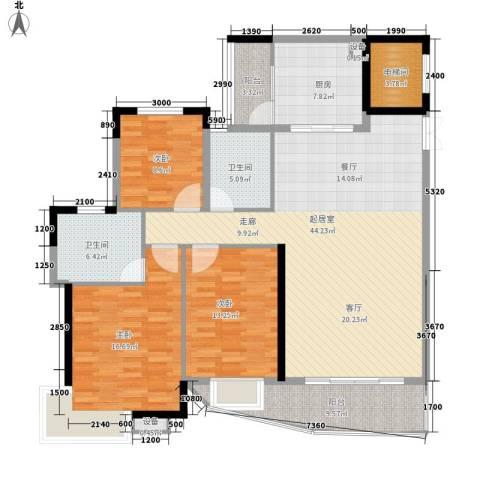 望谷・温泉小镇3室0厅2卫1厨137.00㎡户型图