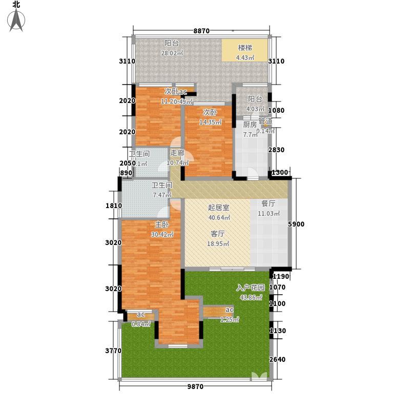 泽科港城国际锦云香缇137.70㎡四期5、6号楼标准层A1户型