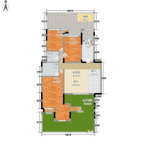 泽科港城国际锦云香缇3室0厅2卫1厨194.54㎡户型图