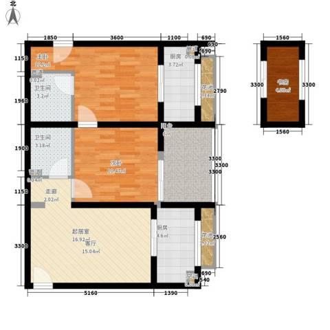 伞塔路丹尼尔小区3室0厅2卫2厨90.00㎡户型图