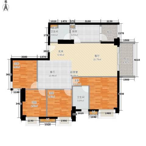 贵贤上品4室0厅2卫1厨126.00㎡户型图