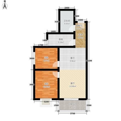 颐和郡2室1厅1卫1厨88.00㎡户型图