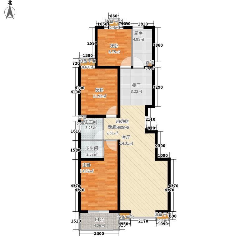 亲亲家园123.60㎡亲亲家园户型图三室户型3室2厅2卫1厨户型3室2厅2卫1厨