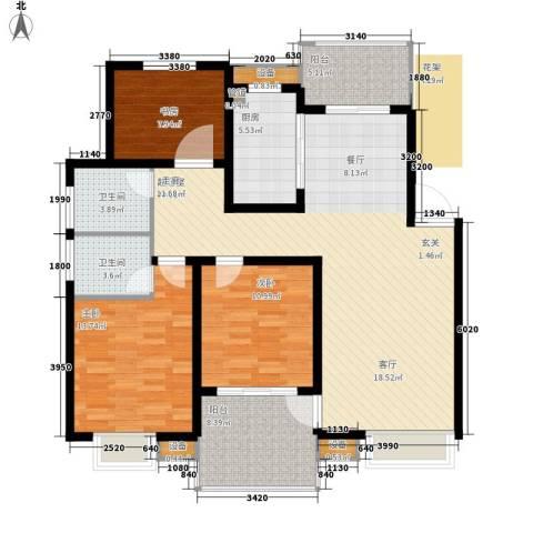胥香园别墅3室0厅2卫1厨144.00㎡户型图