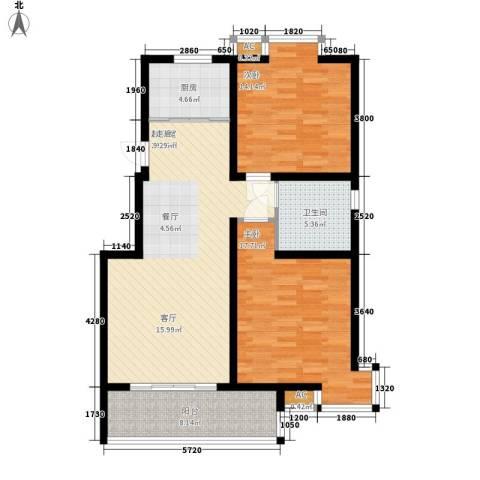 钻石华府2室0厅1卫1厨91.00㎡户型图