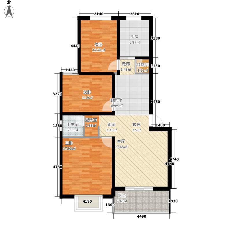 亲亲家园110.00㎡亲亲家园户型图三室户型3室2厅1卫1厨户型3室2厅1卫1厨