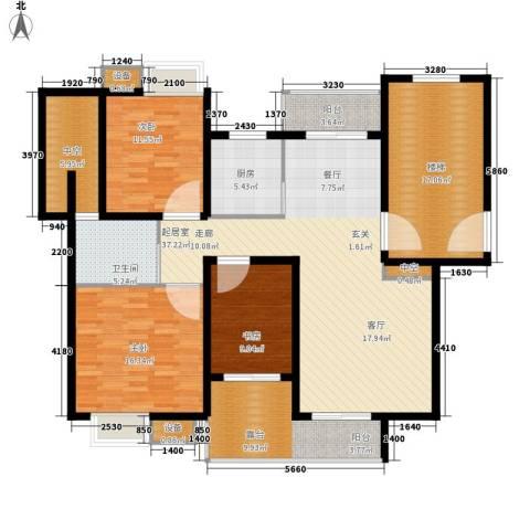宏远时代广场3室0厅1卫1厨141.00㎡户型图