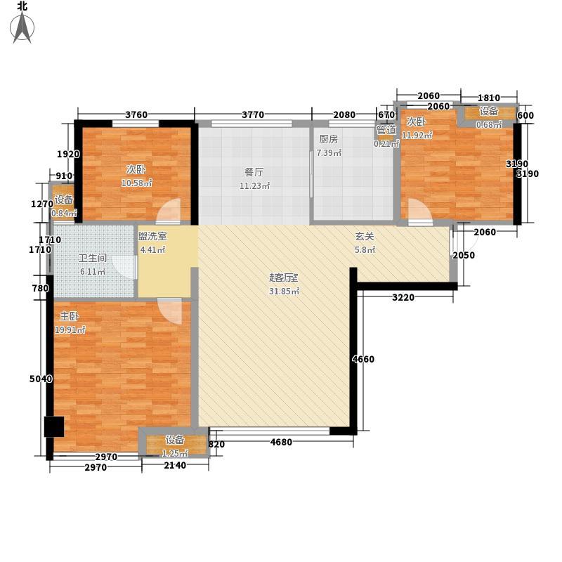 锦盛豪庭125.00㎡一期10#楼标准层G2户型