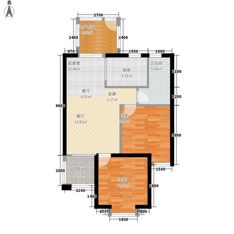 福利莱万和城78.00㎡D3户型2室2厅