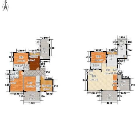 中信和平家园4室0厅3卫1厨270.00㎡户型图