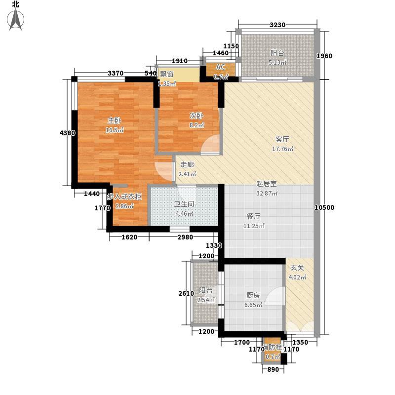 逸翠湾88.58㎡7座6-20层05单元面积8858m户型