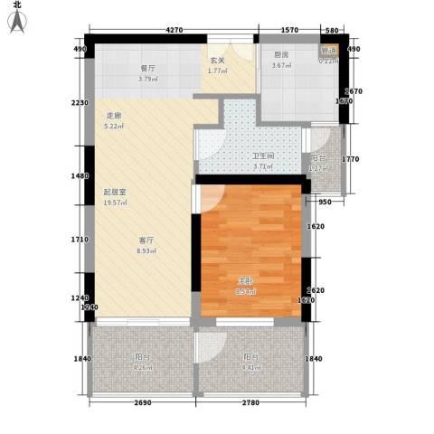 胥香园别墅1室0厅1卫1厨66.00㎡户型图