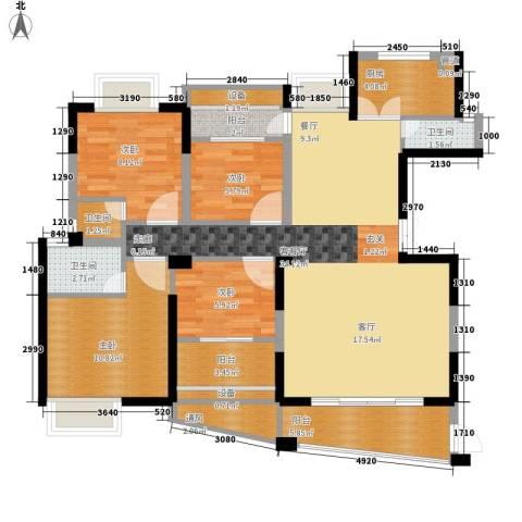 联泰香域中央4室1厅3卫1厨153.00㎡户型图