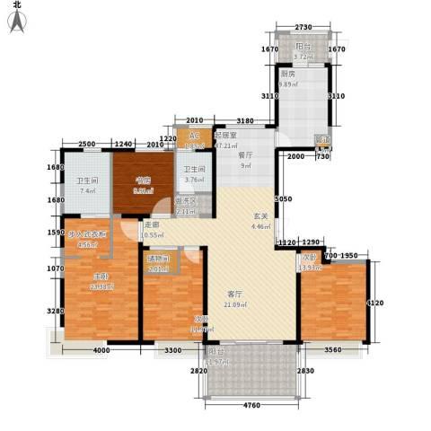 中信和平家园4室0厅2卫1厨162.00㎡户型图