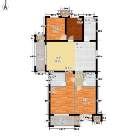 明月湾4室1厅2卫1厨119.00㎡户型图