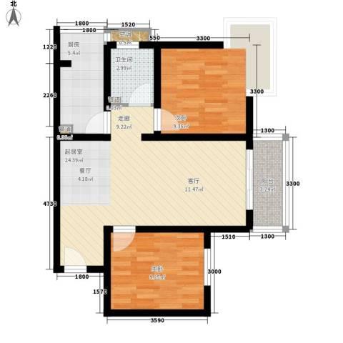 伞塔路丹尼尔小区2室0厅1卫1厨81.00㎡户型图