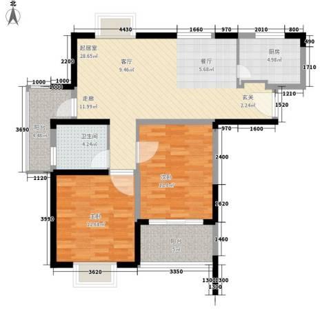 胥香园别墅2室0厅1卫1厨104.00㎡户型图