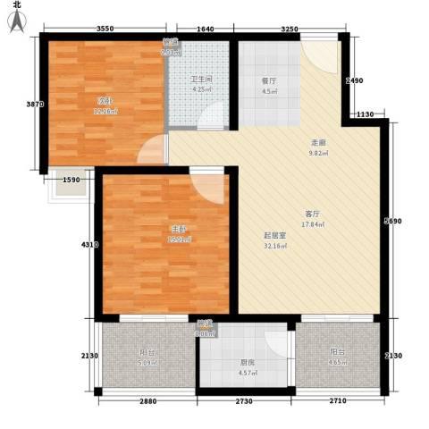 西瑞北国之春2室0厅1卫1厨89.00㎡户型图