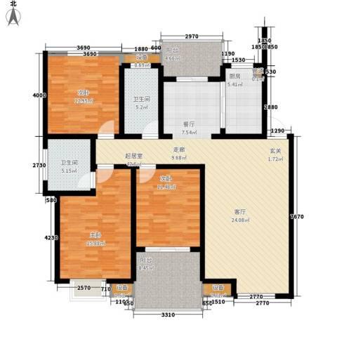 胥香园别墅3室0厅2卫1厨164.00㎡户型图